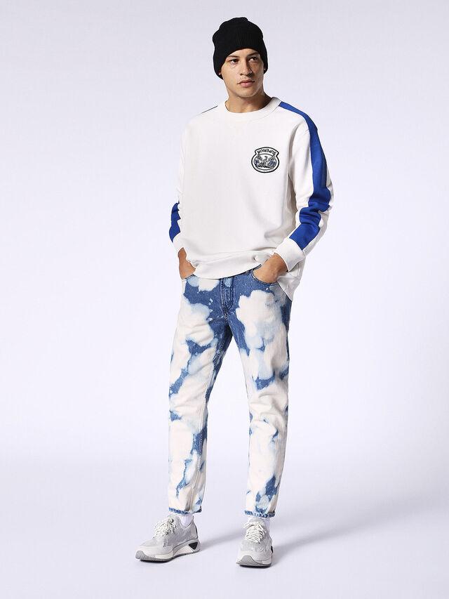 S-BAY, White/surf blue