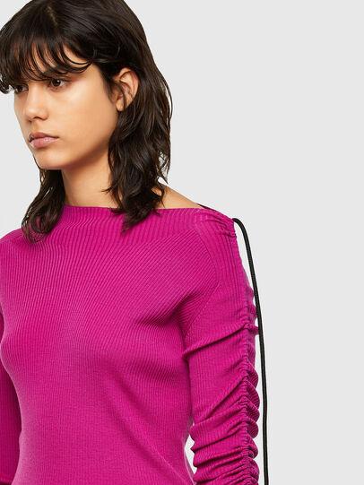 Diesel - M-JULIA, Hot pink - Knitwear - Image 4