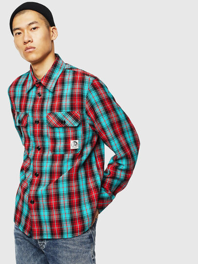 Diesel - S-GERRY-CHECK, Red - Shirts - Image 1