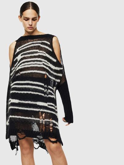 Diesel - M-VANIX, Black/White - Knitwear - Image 1