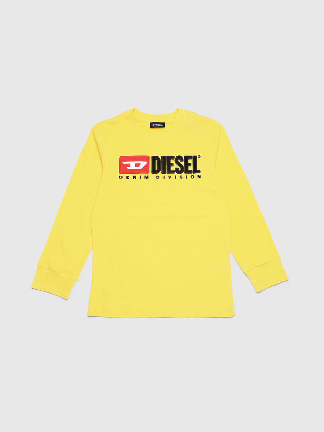 Diesel - TJUSTDIVISION ML, Yellow - T-shirts and Tops - Image 1