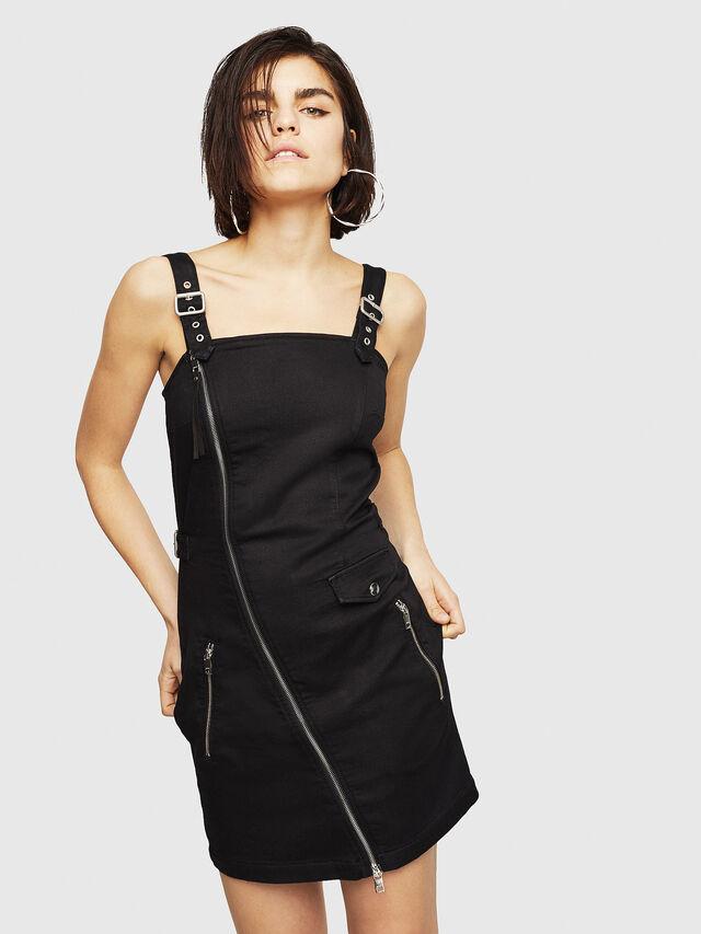 Diesel - D-ARTYN JOGGJEANS, Black - Dresses - Image 1