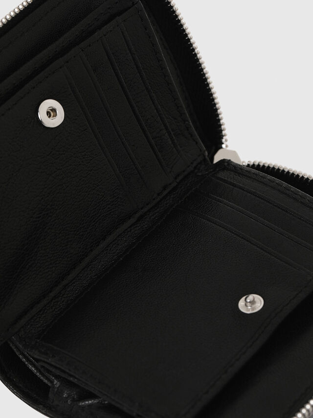 Diesel - L-12ZIP, Black - Small Wallets - Image 4