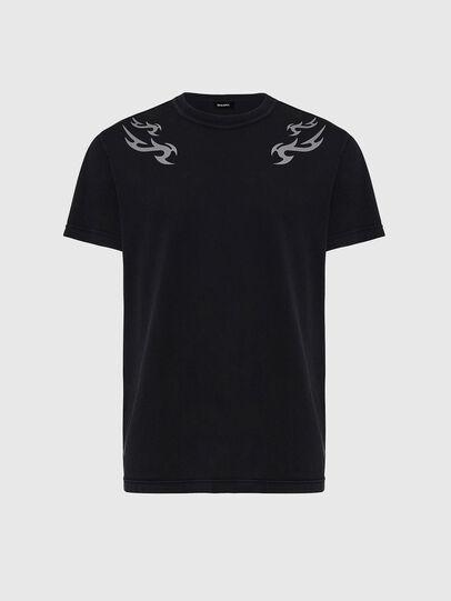 Diesel - T-DIEBIND, Black - T-Shirts - Image 1