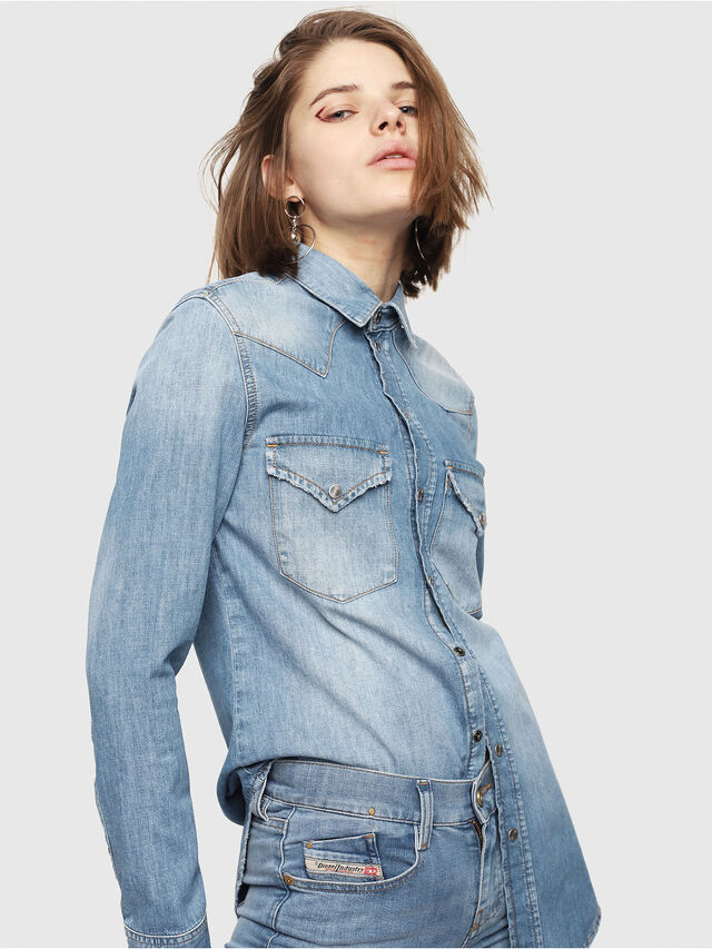 Diesel - DE-RINGY, Blue Jeans - Denim Shirts - Image 1