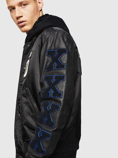 Diesel - L-KHARKOV, Black - Leather jackets - Image 4