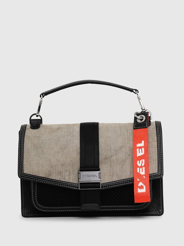 Diesel - MISS-MATCH CROSSBODY, Black/Grey - Crossbody Bags - Image 1