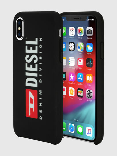 Diesel - DIESEL PRINTED CO-MOLD CASE FOR IPHONE XS & IPHONE X, Black/White - Cases - Image 1
