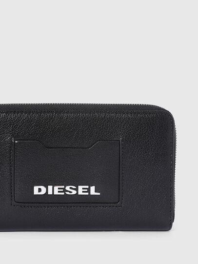 Diesel - GRANATO LC, Black - Zip-Round Wallets - Image 4