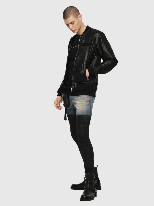 Diesel - L-PINS-A, Black - Leather jackets - Image 4