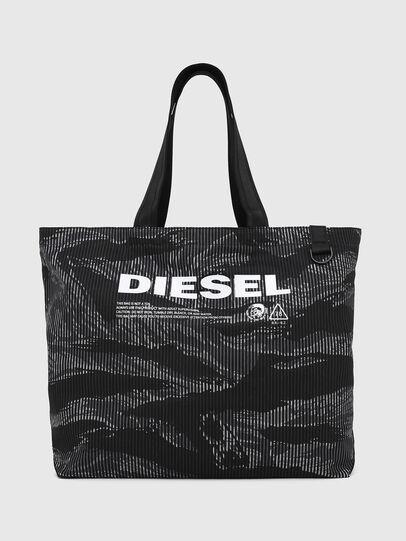 Diesel - D-THISBAG SHOP M, Black - Shopping and Shoulder Bags - Image 1