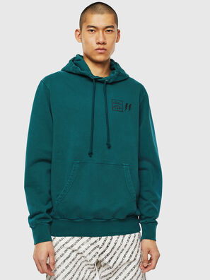 S-GIRK-HOOD-SUN, Dark Green - Sweaters