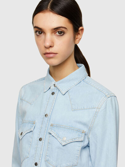 Diesel - DE-RINGY, Light Blue - Denim Shirts - Image 3