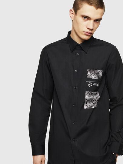 Diesel - S-VEN-PRINT, Black - Shirts - Image 1
