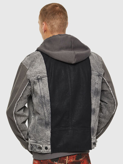 Diesel - D-LOSTY, Black - Denim Jackets - Image 2