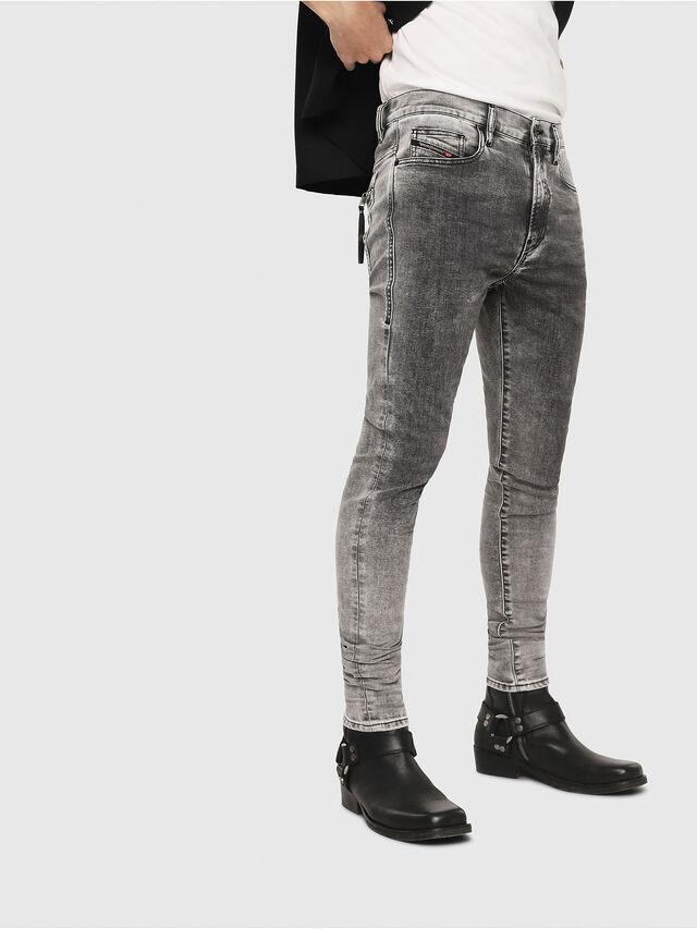 Diesel - D-Amny 069FJ, Black/Dark grey - Jeans - Image 1