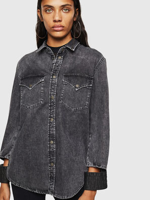 DE-COLLY, Black/Dark grey - Denim Shirts