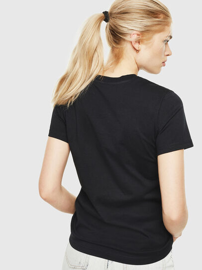Diesel - T-SILY-WQ, Black/Yellow - T-Shirts - Image 2