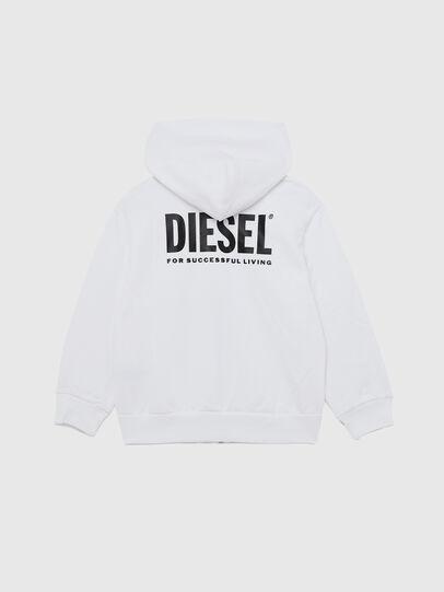Diesel - SGIRKHOODZIP-LOGO OV, White - Sweaters - Image 2