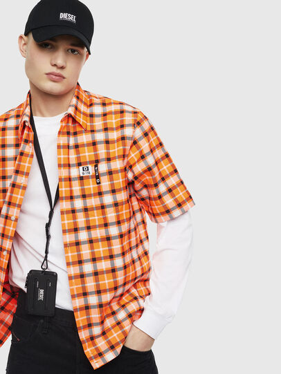 Diesel - S-ATWOOD-A, Orange - Shirts - Image 4