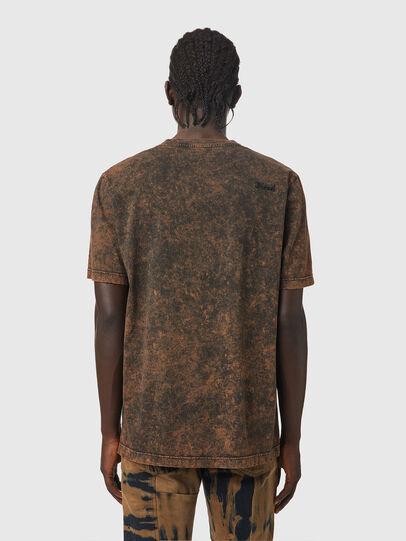 Diesel - T-JUST-SLITS-B65, Black/Brown - T-Shirts - Image 2