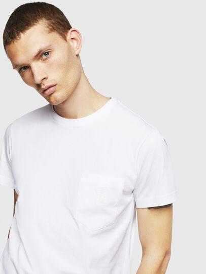 Diesel - T-DIEGO-POCKET-B1, White - T-Shirts - Image 3