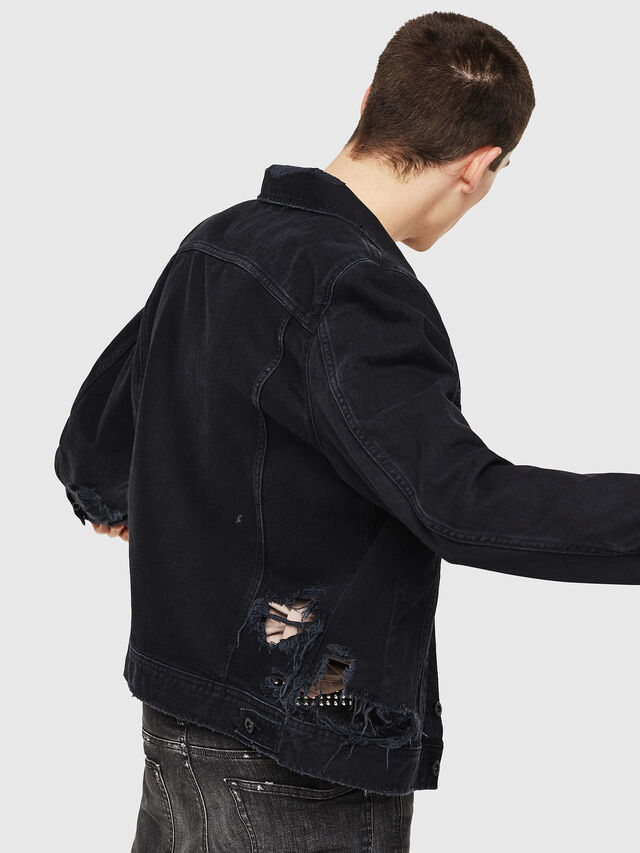 Diesel - D-BRAY, Black - Denim Jackets - Image 2