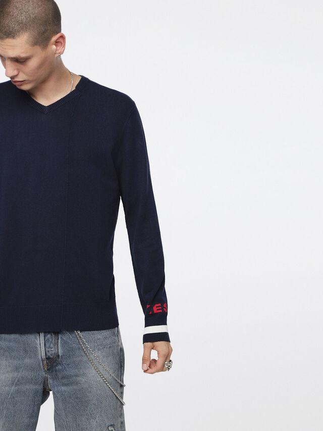 Diesel - K-LOT, Dark Blue - Knitwear - Image 1