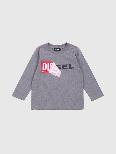 Diesel - TOQUEB-R, Grey - T-shirts and Tops - Image 1