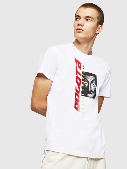 Diesel - LCP-T-DIEGO-BOGOTA, White - T-Shirts - Image 1