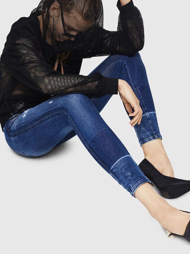 Diesel - Slandy 0090K, Dark Blue - Jeans - Image 5