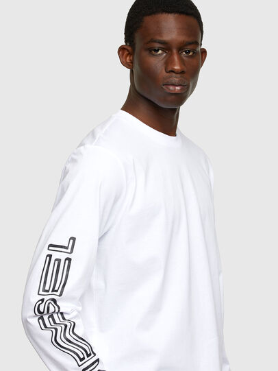 Diesel - T-JUST-LS-A7, White - T-Shirts - Image 3