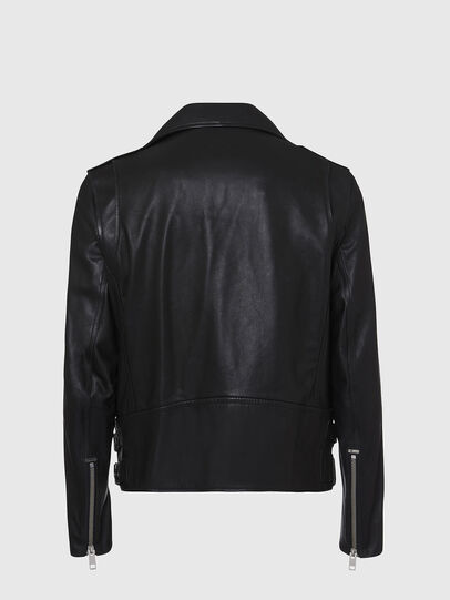 Diesel - L-GARRETT, Black - Leather jackets - Image 2