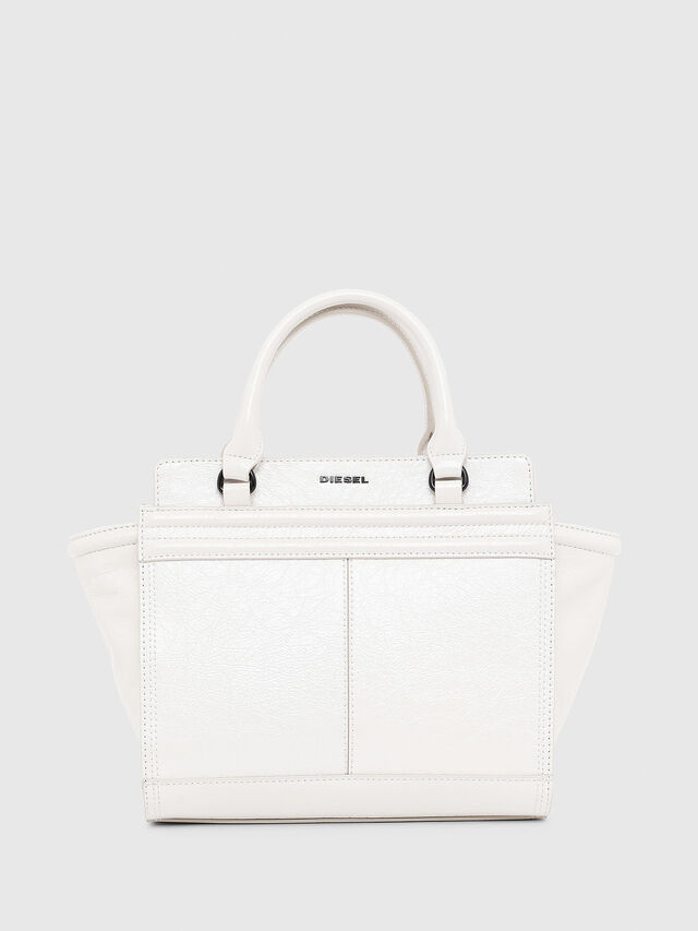 Diesel - LE-ZIPPER SATCHEL S, White - Satchels and Handbags - Image 1