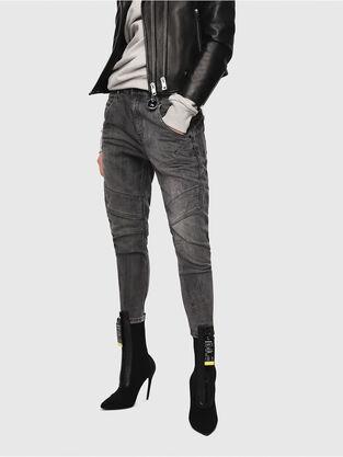 Fayza JoggJeans 8880U, Black/Dark grey - Jeans