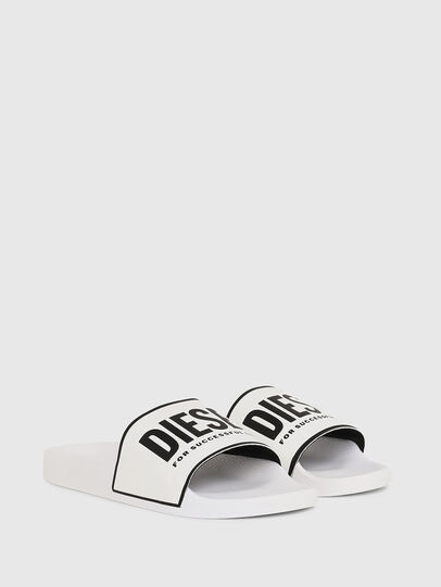 Diesel - SA-VALLA, White - Slippers - Image 2