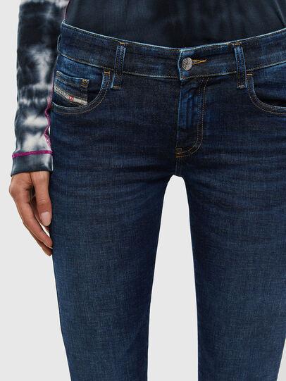 Diesel - Slandy Low 069PX, Dark Blue - Jeans - Image 4