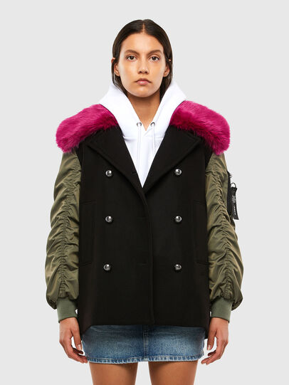 Diesel - W-AMARAL, Black - Winter Jackets - Image 1