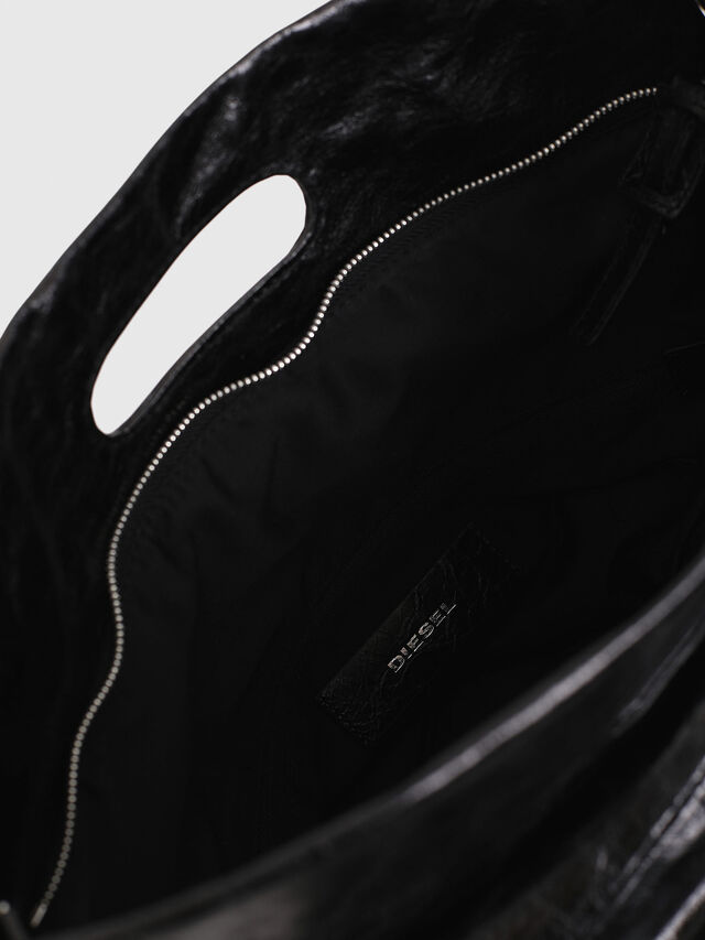 Diesel - F-LITT SHOPPER N/S, Black - Shopping and Shoulder Bags - Image 4