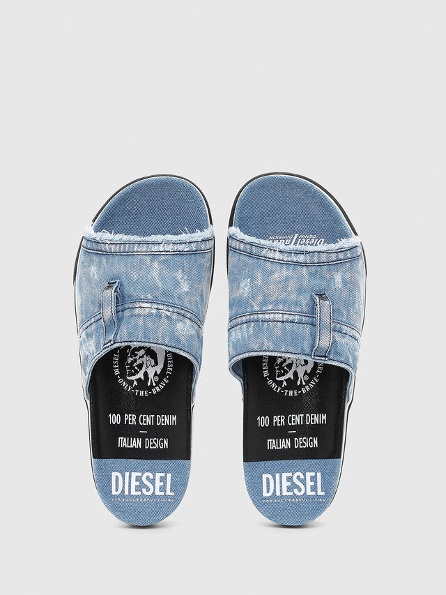 Diesel - SA-GRAND OT, Blue Jeans - Slippers - Image 4