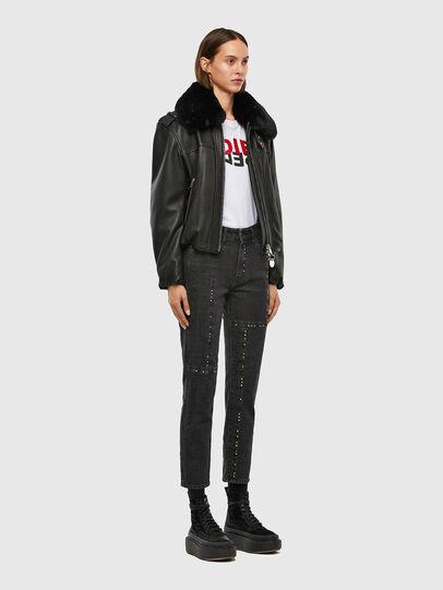 Diesel - L-LIV, Black - Leather jackets - Image 6