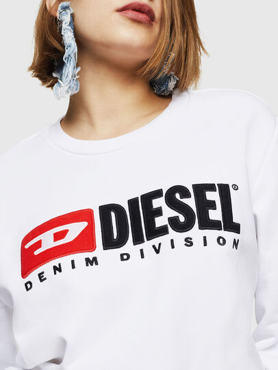 Diesel - F-GIR-DIVISION-FL, White - Sweaters - Image 3