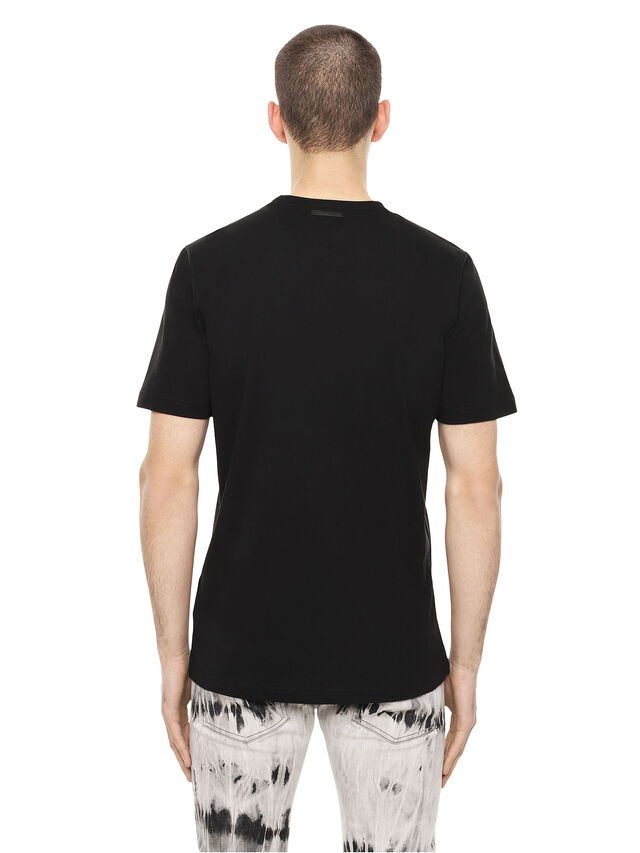 Diesel - TY-DRIPPINGSOLDIER, Black - T-Shirts - Image 2