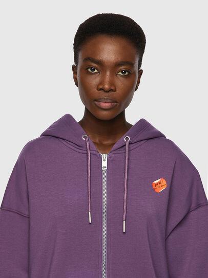 Diesel - F-GULLY-HOOD-ZIP, Dark Violet - Sweaters - Image 3