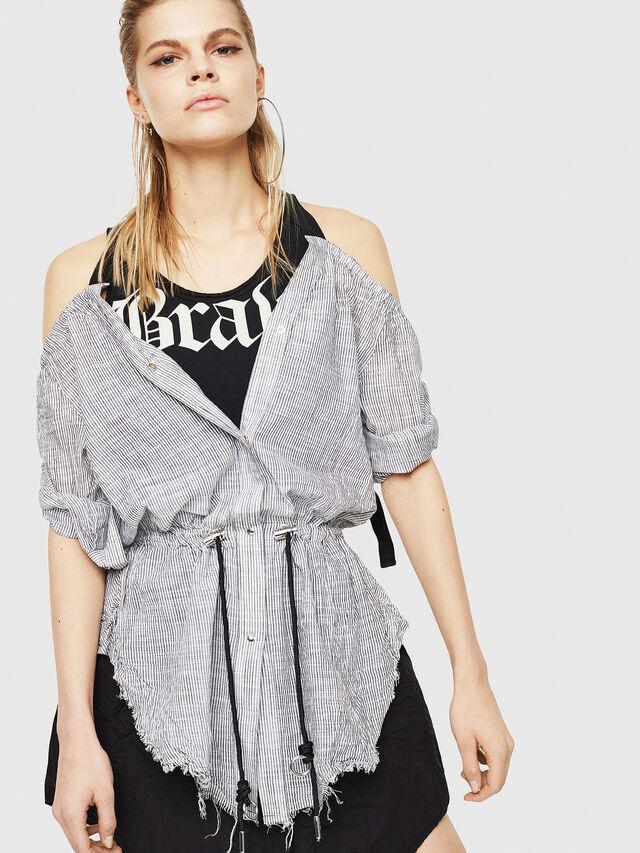Diesel - D-JUDY, Black/Grey - Dresses - Image 4