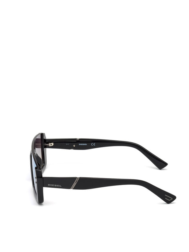 Diesel - DL0248, Bright Black - Sunglasses - Image 3