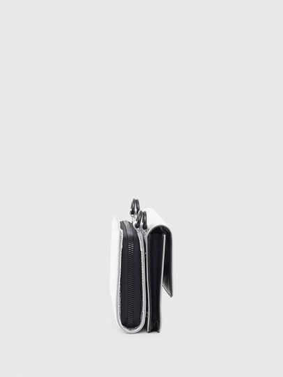 Diesel - DUPLET LC, Silver - Zip-Round Wallets - Image 3