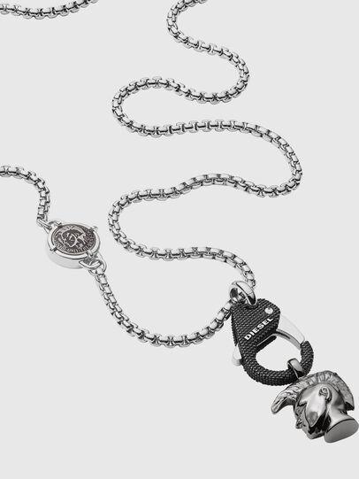 Diesel - DX1148, Silver/Black - Necklaces - Image 2