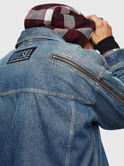Diesel - D-LORY, Medium blue - Denim Jackets - Image 4