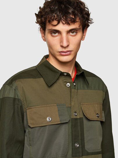 Diesel - S-HORUS, Olive Green - Shirts - Image 3